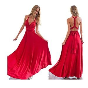 Dresses & Skirts - Convertible Dress-Red